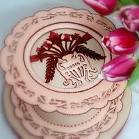 Art Nouveau Valentine cake