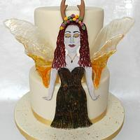 Aria the Autumn Fairy - Woodland Fairies Collaboration by Melodie Moo's Cakery