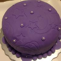 Purple Sky & Shiny Stars by Sandra Andrade
