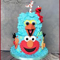 Elmo and friends cake...