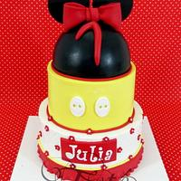 Mickey Minnie cake