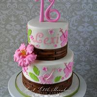 Luau Theme 16th Birthday Cake