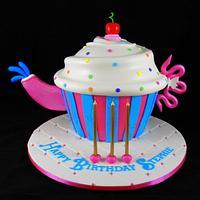 Giant Cupcake Teapot Cake