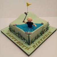Golfer Cake by Sarah Poole