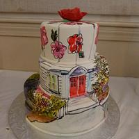 Church in Painted Fondant