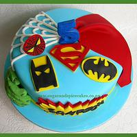Last Minute Super Heroes Cake! Wish I had time for figurines!!!