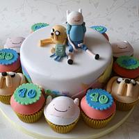 Adventure Time cake and cupcakes