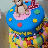 2 tier Bear Fondant Cake by Letchumi Sekaran