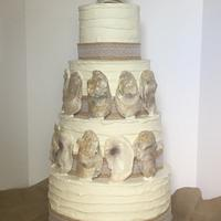 Oyster Louisiana style Wedding Cake