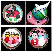 Anniversary love story cupcake by Sreeja -The Cake Addict