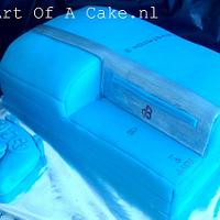 3D blue playstation 3 cake with Consoller