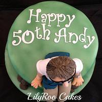 50th birthday cake by Jo Waterman
