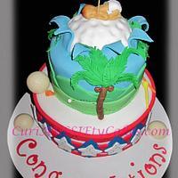Golf / Puerto Rican theme men's baby shower cake