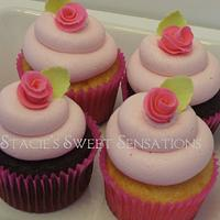 Rose Cupcakes by Naturepixie