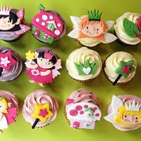 Fairy themed cupcakes