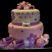 Girly Babyshower Cake