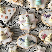 Handpainted wedding cookies