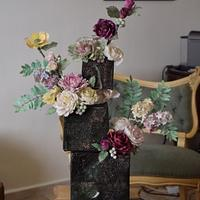 Offset cubes in bloom