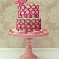 Pink Contemporary Birthday cake