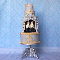 Theatre theme wedding cakes