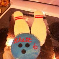 Bowling Cake and Cookies