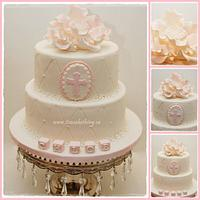 Elegant Baptism Cake  by It's a Cake Thing