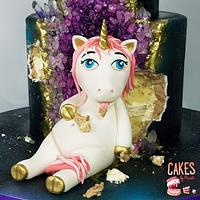 Fat Unicorn Geode Cake by Cakes By Kristi