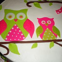 Owl Cake by Kim Leatherwood