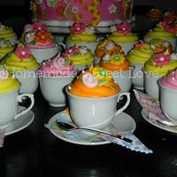 Big bird tea party  by  Brenda Lee Rivera
