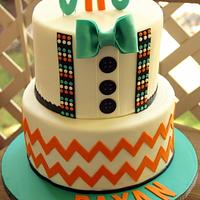 An Elegant Bow Tie Cake
