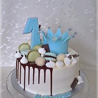 Drip cake the ...1st birthday