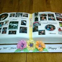 Photo Album Cake by Peggy