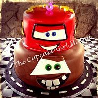 Lightning McQueen & Tow Mater Cars Cake