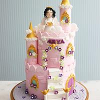 Angel castle birthday cake