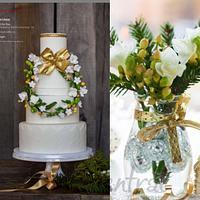 Holiday wedding cake