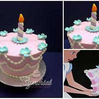 1950's Alice in Wonderland cake