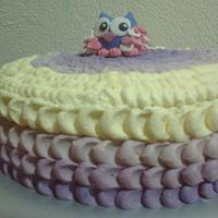 Ombre Petal Effect Owl cake by Su