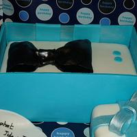 Bow tie box cake.