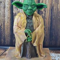 Yoda in chocolate cake