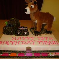 Girls Deer Hunting Birthday Cake