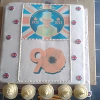 """jubillee cake 16"""" by 16"""""""
