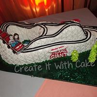 Texas Giant Roller Coaster Groom's Cake
