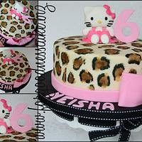 Leopard print Hello Kitty by Forgoodnesscake