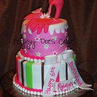 Ryleigh's High Heel Cake by Peggy Does Cake