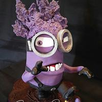 Gravity 3D Eviiil Purple Minion Cake and his minions!
