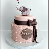 Pink and Grey Elephant Theme