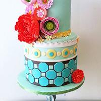 My Sis' MODERN & TRENDY Milestone Birthday Cake