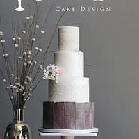 Country Lace Wedding Cake