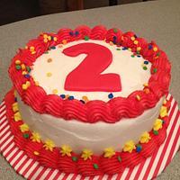 Caillou Birthday Cake and Smash Cake by Tonya
