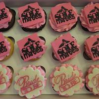 Black and Pink Bridal Shower Cupcakes